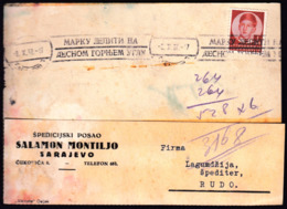 Yugoslavia Sarajevo 1937 / Marku Lepite Na Desnom Gornjem Uglu / Stick Stamp In The Right Upper Corner / Flamme, Slogan - 1931-1941 Regno Di Jugoslavia