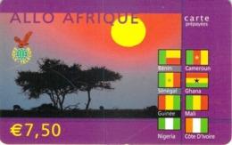 Carte Prépayée - ALLO AFRIQUE -  7.5 € - France