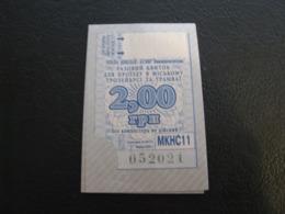 Ukraine Tram Trolleybus Ticket 2 UAH Mykolayiv Nikolaev Blue Color Unused - Tram