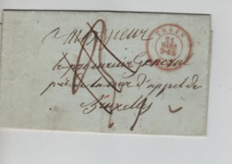 PR7488/ LAC En Franchise C.Thuin 21/Mars/1855 > Procureur Général BXL Taxé 3 Ports Et Barré Par 3 Traits C.d'arrivée - Marcofilia