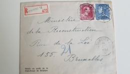 N°832-847A Agence Verviers*12*14.VIII.51 S/l.recom.v.Bruxelles - Marcofilia