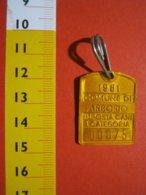 MED.1 ITALIA 1981 ARBORIO VERCELLI MEDAGLIA TASSA IMPOSTA CANI TAXE DOG CANE - Profesionales/De Sociedad