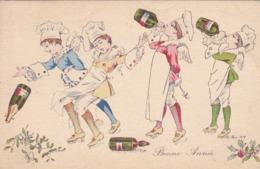 CPA ILLUSTRATEUR Xavier SAGER - Cuisiniers D'amour En 1916 - Champagne - Bonne Année ! - Sager, Xavier