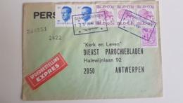 N°1748(3)-1850-2069(3)obl.rectangulaire Geraardsbergen 25 Juin 1983s/l.expres V.Anvers - Bélgica