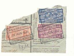 D826A-België CHEM. DE FER DE CHIMAY   Op Fragment Stempel SELOIGNES MONCEAU - Ferrocarril