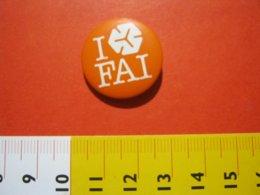 MED.1 ITALIA SPILLA PIN'S PIN PINS I LOVE FAI FONDO AMBIENTE ITALIA METALLICA - GRANDE BIANCO ARANCIONE - Associazioni