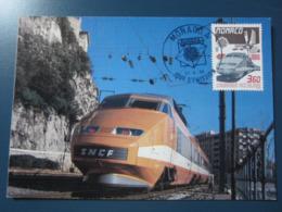 Carte Premier Jour 21 Avril 1988 Monaco Europa - Treni
