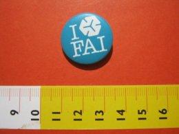 MED.1 ITALIA SPILLA PIN'S PIN PINS I LOVE FAI FONDO AMBIENTE ITALIA METALLICA - GRANDE - BIANCO VERDE - Associazioni