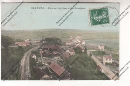 CPA Colorisée CLERVAL (25) - Vue Sur La Gare Et La Fonderie - Otros Municipios