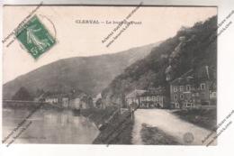 Rare CPA CLERVAL (25) - Le Bout Du Pont - France