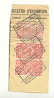 D858A-België CHEM. DE FER DE CHIMAY Op Fragment Stempel SELOIGNES MONCEAU - Ferrocarril