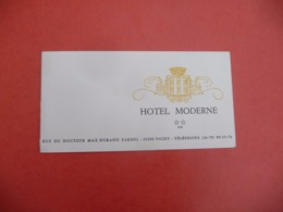 HOTEL MODERNE ( Rue Du DOCTEUR MAX DURAND FARDEL A VICHY - Visiting Cards