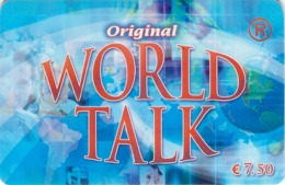 Carte Prépayée - ORIGINAL WORLD TALK -  7.5 € - France