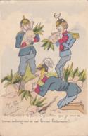 CPA ILLUSTRATEUR D'Anzy - Guerre 1914 1918 ALLEMAGNE Allemand Soldat Casque à Pointe Betteraves Humour Satirique - Illustrators & Photographers