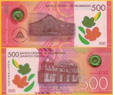 Nicaragua 500 Cordobas P-new 2017(2019) UNC Polymer Banknote - Nicaragua