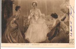 L100d065 - Tableau - Peinture - Salon 1906 - Matignon - Comme Autrefois - LL N°100 - SPA - Femme Jouant Du Luth - Paintings