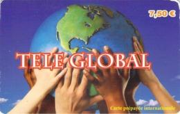 Carte Prépayée - TELE GLOBAL  -  7.5 € - Francia