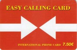 Carte Prépayée - EASY CALLING CARD  -  7.5 € - Andere Voorafbetaalde Kaarten