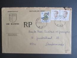 2126 - Velghe - In Paar Op Gemeentebrief Uit Hamme(Vl) RP - 1981-1990 Velghe