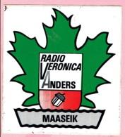 Sticker - RADIO VERONICA ANDERS - MAASEIK - Autocollants