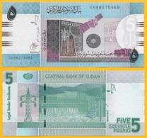 Sudan 5 Pounds P-72 2017 UNC Banknote - Sudan