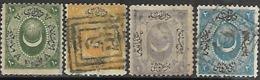 Turkey   1865    Sc#8-11   Used  2016 Scott Value $25 - Used Stamps