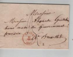 PR7489/ LAC C. Namur 30/OCT/1841 Port 3 > A.Gendebien Membre Gouvernement Provisoire BXL C.darrivée - 1830-1849 (Belgica Independiente)