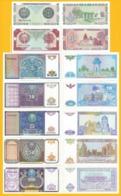 Uzbekistan Set 1, 3, 5, 10, 25, 50, 100 Sum 1994 UNC - Uzbekistan