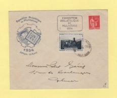 Type Paix - Entier Postal Timbre Sur Commande - Exposition Philatelique Mulhouse - 1934 - Postal Stamped Stationery