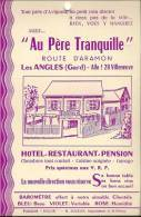 30 LES ANGLES CARTON PUB HOTEL PERE TRANQUILLE   BAROMETRE  A VOIR!!!!!!!!!!!!!! - Unclassified