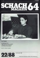 Schach Chess Ajedrez échecs - Schach Magazine - Nr 22 / 1988 - Sports