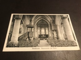 Handzaeme (Handzame - Kortemark ) - Binnenzicht Kerk - Uitg. Vr. Zwaenepoel - Muys - Gelopen - Kortemark