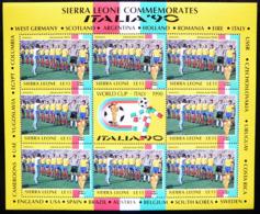 (dcbv-093) Sierra Leone Italia 90 Romania    Mi  1436ms   MNH - 1990 – Italien