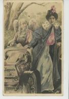 FEMMES - FRAU - LADY - ARTISTES 1900 -  Jolie Carte Fantaisie Photo Montage CAVALIERI Apportant La Prospérité - Femmes