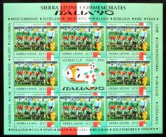 (dcbv-091) Sierra Leone Italia 90 Camerun - Cameroon - Kameroen    1438ms    MNH - 1990 – Italien