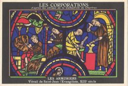 Lot De 21 CP Les Corporations D'après Les Vitraux De La Cathédrale De Chartres - Publicité Aspirine Et Pate SPECIA - Chartres