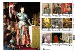 Ukraine 2019, France History, Jeanne D'Arc, Painting, Sheetlet Of 9v - Ukraine