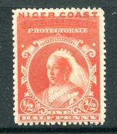 Niger Coast - Nigeria 1894 QV - Oil Rivers Obliterated - ½d Vermilion (p.13½-14) HM (SG 45a) - Nigeria (...-1960)