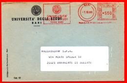 1986 UNIVERSITA' DI BARI - METER STAMP EMA FREISTEMPEL AFFRANCATURA MECCANICA - Poststempel - Freistempel