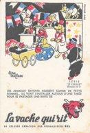 BUVARD  - LA VACHE QUI RIT -  LE CIRQUE N° 9  -  DESSINATEUR ALAIN SAINT OGAN - Dairy