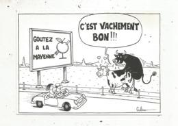 Cp, Illustrateur, Signée Gulliver, Humour , GOUTEZ A LA MAYENNE ,  écrite 1988 - Illustrateurs & Photographes