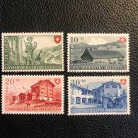 Schweiz Pro Patria 1948 Zumstein-Nr. 38-41 ** Postfrisch - Pro Patria