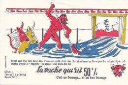 BUVARD  - LA VACHE QUI RIT -  LES TRAVAUX D'HERCULE N° 1  -  DESSINATEUR PAUL GRIMAULT -  TRES BON ETAT - Dairy