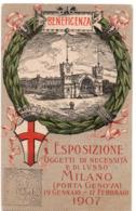 MILANO - PORTA GENOVA - BENEFICENZA - ESPOSIZIONE OGGETTI DI NECESSITA' E DI LUSSO - NON VIAGGIATA - Milano (Milan)