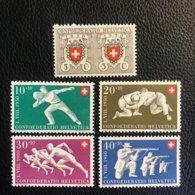 Schweiz Pro Patria 1950 Zumstein-Nr. 46-50 ** Postfrisch - Pro Patria