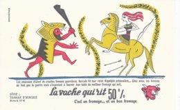 BUVARD  - LA VACHE QUI RIT -  LES TRAVAUX D'HERCULE N° 4  -  DESSINATEUR PAUL GRIMAULT -  TRES BON ETAT - Dairy