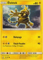 Carte Pokemon 43/156 Elektek 80pv 2018 - Pokemon