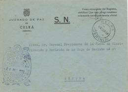 34279. Carta S.N. Franquicia Juzgado De Paz CELRÁ (Gerona) 1959. Fechador Celrá - 1931-Hoy: 2ª República - ... Juan Carlos I