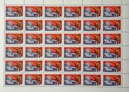 USSR Russia 1980 Sheet 60th Anniv Electrification Plan Lenin Famous People Politician Celebrations Flag Stamps MNH - Lenin