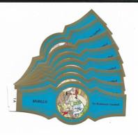 MURILLO  ASTERIX  1A-10A  GOLD  BLUE - Cigar Bands